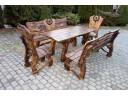 Gartenmöbel Set aus Holz 180 cm Handgefertig
