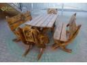 Gartenmöbel Set 5 teilig aus Holz 180 cm Handgefertigt