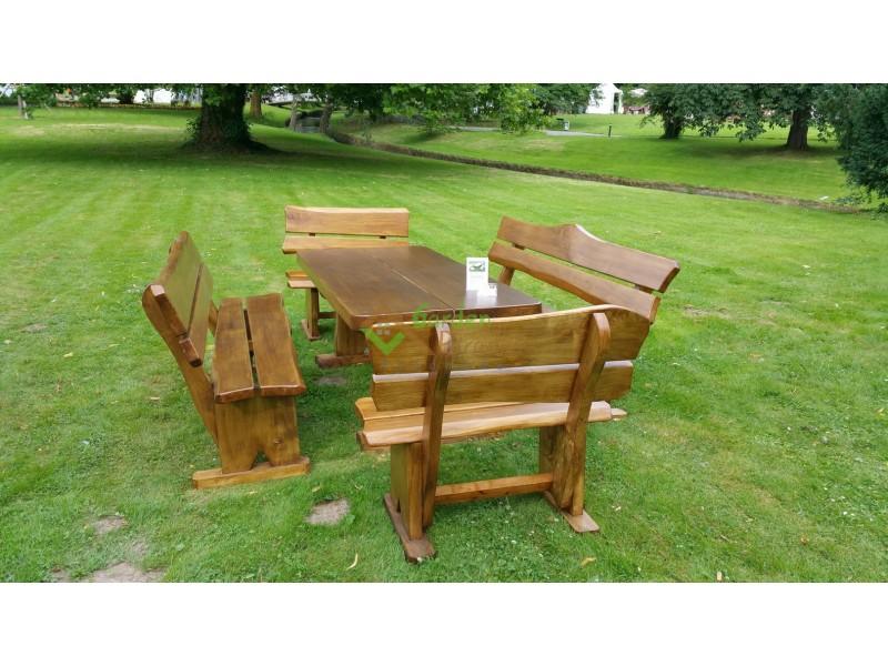 Rustikale Gartenmöbel aus Massivholz REF-10 - Garden Paradies ...
