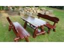 Sitzgruppe Gartenmöbel aus Holz 200 cm REF - 13
