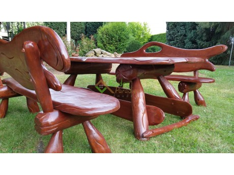 Gartenmöbel Gartenset aus Holz Handgefertigt 200 cm