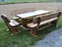 Gartenmöbel Gartengarnitur aus Naturholz Handgefertigt