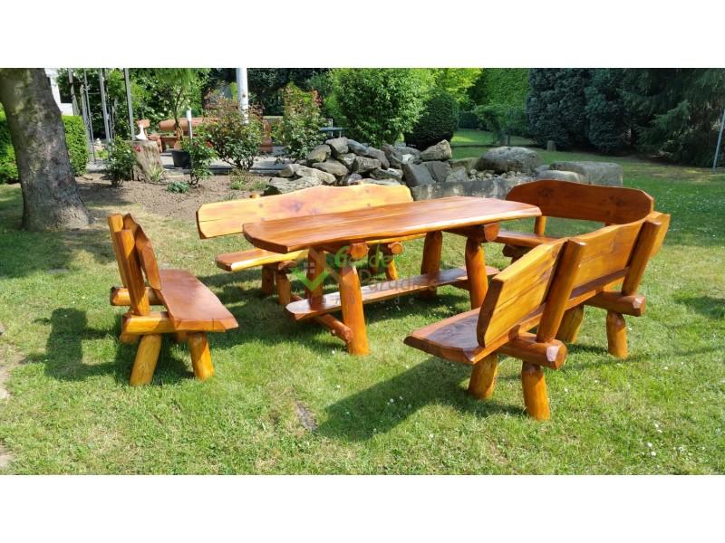 Gartenmöbel Sitzgarnitur aus Robinienholz 100 % Einzigartig