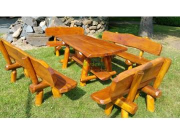Gartenmöbel Sitzgarnitur aus Robinienholz Unikat