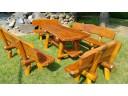 Gartenmöbel Sitzgarnitur aus Robinienholz