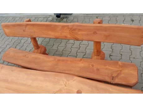 Gartenbank aus einem Baumstamm  200 cm Handgefertigt