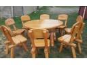 Sitzgruppe Gartenmöbel aus Massivholz 8 - teilig