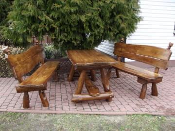 Gartenset Sitzgruppe aus Eichenholz 200 cm